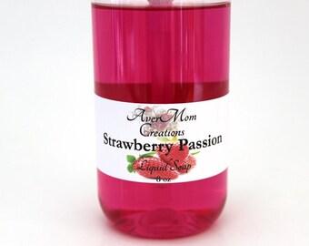 Strawberry Passion Scented Liquid Soap or Foaming Soap *8 oz*