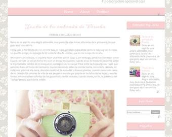 Minerva Premade Blogger Template