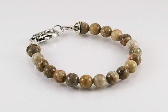 bracelet pour homme en corail fossile bracelet homme. Black Bedroom Furniture Sets. Home Design Ideas