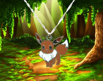 Pokemon sterling silver necklace with Eevee charm  Free UK Postage!