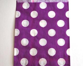 Bright Purple Polka Dot Favor Bags