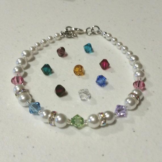 s family birthstone bracelet made by