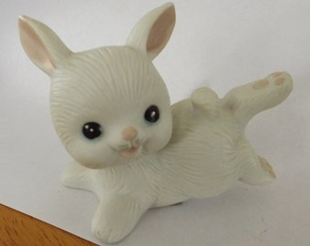 Vintage Homco White Bunny
