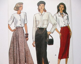 Very Easy Very Vogue 8692 ~ Mid-Calf or Ankle-Length Straight or Flared Skirt SIZE 8-10-12 UNCUT Sewing Pattern