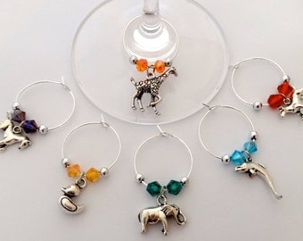 Animals Wine Charms