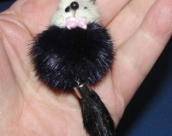 Mink Cell Phone Charm