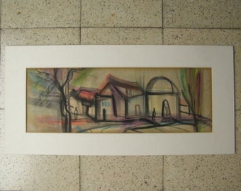 Tuchamsky Israeli Artist Marvelous Watercolor