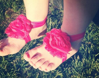 Baby barefoot sandals, barefoot sandals, flower sandals, barefoot sandals and headband