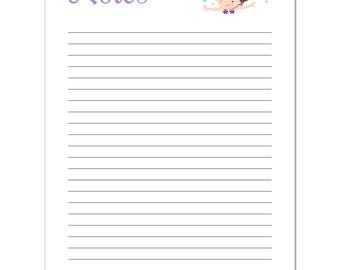"Mermaid Notepad - Personalized 8.5"" x 5.5"" Notepad - 50 Sheet Notepad - Kids Stationery - kids Notepad"