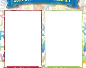 """My Teacher and I ! Digital Scrapbook page - square format 8""""x8"""" -  just drop in your own pictures and print!"""