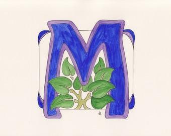 Monogram M - Art Deco Style