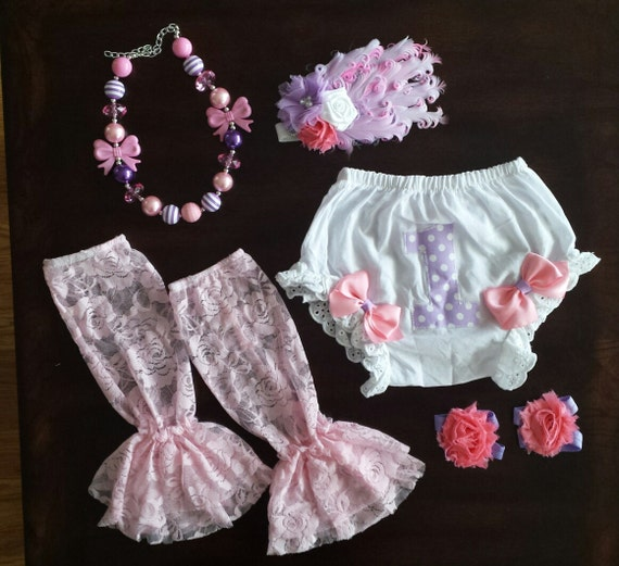 Baby Girl 1 Diaper Cover One Bloomer Cake By