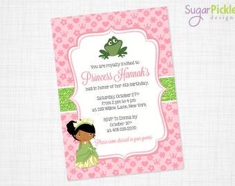 Princess Tiana Invitation, Princess Invitation, Princess and the frog, Party Invitation, Princess Tiana Party Printable, PRINTABLE
