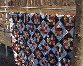 Scrappy 16 patch quilt