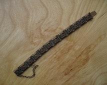 Pentti Sarpaneva Bronze Link Bracelet Finland Scandinavian Modernist 70s -- Damaged -- 20