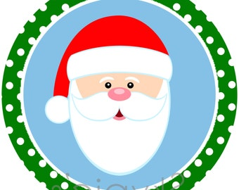 INSTANT DOWNLOAD Printable Christmas Iron On Transfer - Christmas Stocking Iron on - Santa Blue