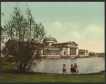 Field Columbian Museum, Jackson Park, Chicago 1901. Vintage photo postcard reprint 8x10-up. Field Columbian Museum Parks Galleries &