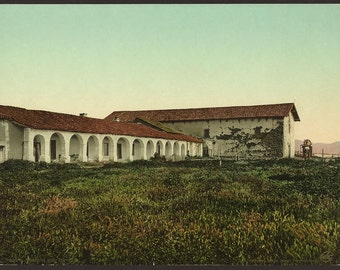 Mission San Miguel 1898. Vintage photo postcard reprint 8x10-up. Mission San Miguel Arcangel (San Miguel, Calif) Missions California San