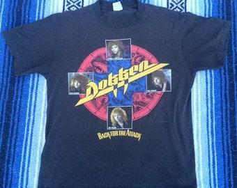 Vintage 1987 Dokken Tour Band Shirt