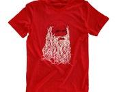 Leonardo Da Vinci Spaghetti beard t-shirt