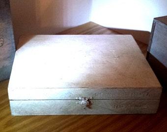 SALE Jewelry box Wooden Cigar box The Mason Dixon Project (1) decor for men or women gift home decor re purposed vintage look prayer box