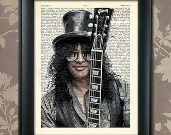 Slash, Guns & Roses, Guns and Roses print, Slash art, Slash poster, Slash print, Slash gift, Guns and Roses art, Guns and Roses gift
