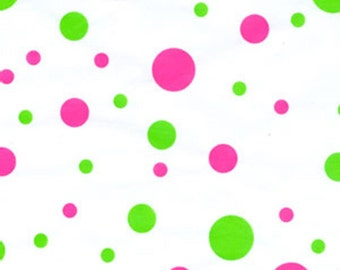 "Hip Hop  Pink & Lime Green Polka Dot Tissue Paper  # 259 / Gift Wrap  - 10 Large Sheets ... 20"" x 30""  -  girls,"
