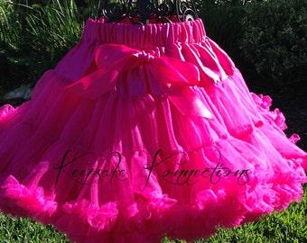 Hot Pink Pettiskirt, Toddler Girl Clothes, Baby Girl Tutus, Princess Aurora Tutu, Twin Girl Pettiskirt, Girls Clothing, Tulle Skirts