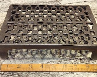"Cast Iron Air Brick or Trivet - Pot Stand 6"" x 9"""