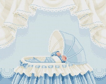 "Cross stitch pattern ""Baby boy"""