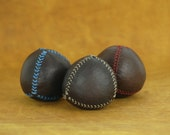 Set of 3  leather juggling balls, juggling balls, juggling, leather balls, gift for jugglers, circus, ball, toys