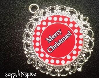 Merry Christmas Pendant - Merry Christmas Necklace - Holiday Jewelry - Merry Christmas Jewelry - Christmas Necklace - Christmas pendant