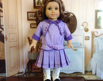 American Girl 1914 Era Purple and Lavendar Dress