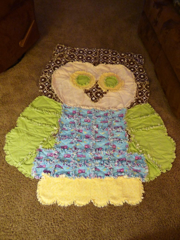 Rag Quilt Owl Pattern : Owl Rag Quilt