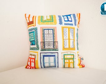 Lisboa's windows, pillow 40x40cm/60x30cm