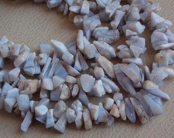"BLUE Lace Agate 1.Strand 16"" Rough Beads 20x8 To 7x5 mm Approx 100% Natural Beautiful AAA Quality Discounted Price New Arrival"
