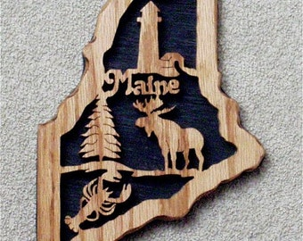 Maine State Plaque