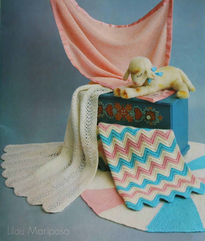 Vintage Baby Blanket Knitting Patterns : BABY BLANKET PATTERN Knitted baby blanket pattern 4 Vintage