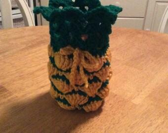 Pineapple mason jar cozy