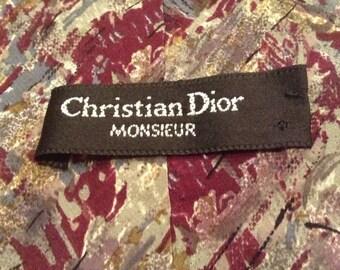 Christian Dior 100 % Silk Tie