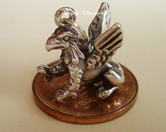 Sterling Silver Griffin Gryphon Charm