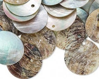 Mother of Pearl 10mm Shell Discs - Natural - Pack 50