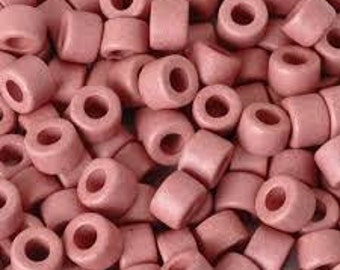 Mykinos Greek Ceramic Tubes - 5x6mm - Pink - Pack 25
