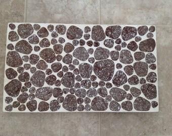 Vintage 1960s Inlaid Tile Tray Medium MCM Mid Century