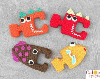 Pattern Baby sea puzzle amigurumi. By Caloca Crochet
