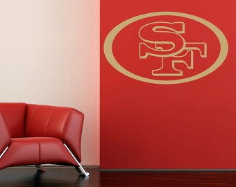 Items similar to handmade san francisco 49ers outlet for 49ers wall mural