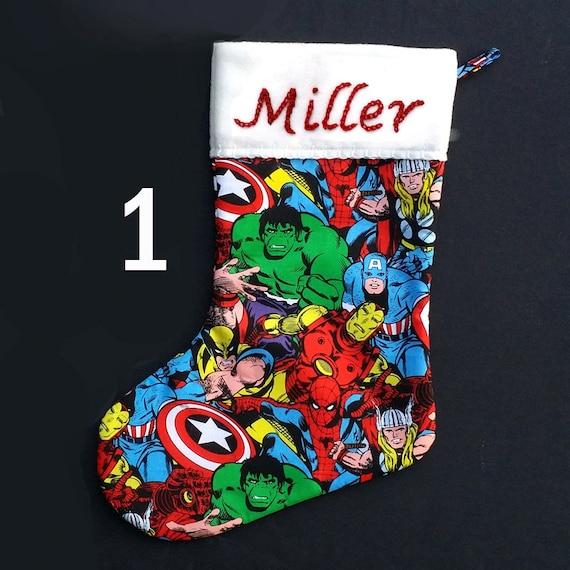 2007 Marvel Spiderman Christmas Stocking w/ 3D Spiderman ... |Marvel Stockings