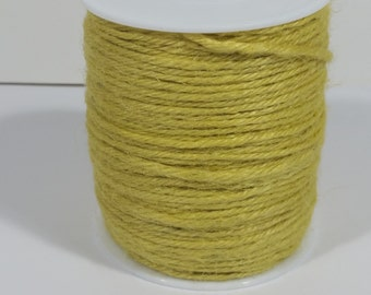 4 Ply Jute Cord  - Yellow - 100 Yards