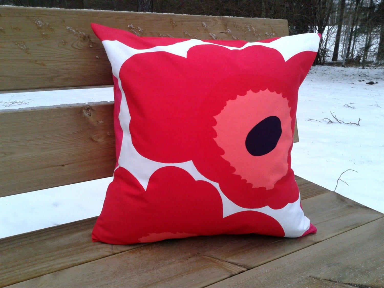 Pillow cover made from Marimekko fabric Unikko cushion or