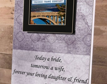 Mother of the Bride Gift Personalized Picture Frame 14 x 19 Anniversary Love Mom Song Vows Parents Thank You Wedding All That We Are